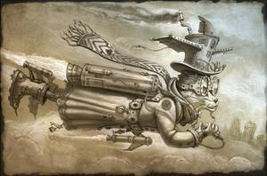 Steampunk Cat Rocketeer by Jeff Haynie