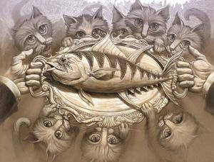 Tuna on a Silver Platter by Jeff Haynie