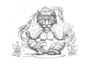 Yoga Cat Pencil by Jeff Haynie