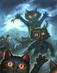 Zombie Cats by Jeff Haynie