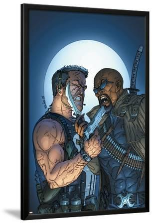 Marvel Team-Up No.8 Cover: Punisher and Blade by jeff Johnson