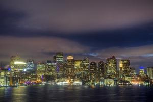 Boston Skyline at Night by Jeff Kreulen