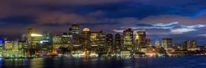 Boston Skyline Panorama at Night by Jeff Kreulen