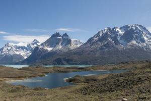 A Mountainous and Snow Capped View of Torres Del Paine National Park by Jeff Mauritzen