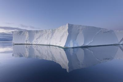 A Tabular Iceberg under the Midnight Sun of the Antarctic Summer in the Weddell Sea by Jeff Mauritzen