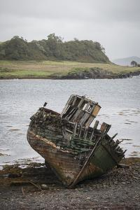 Shipwreck in Little Horseshoe Bay on Kerrera Isle, Part of the Scottish Inner Hebrides by Jeff Mauritzen