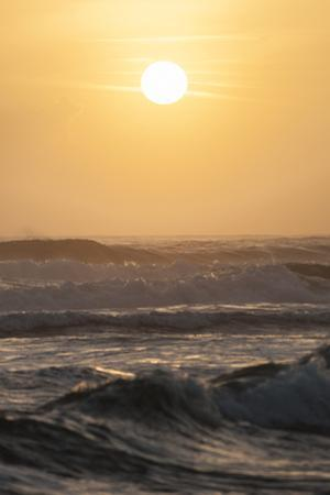 Sunrise over the Caribbean Sea from Tortuguero National Park, Costa Rica by Jeff Mauritzen