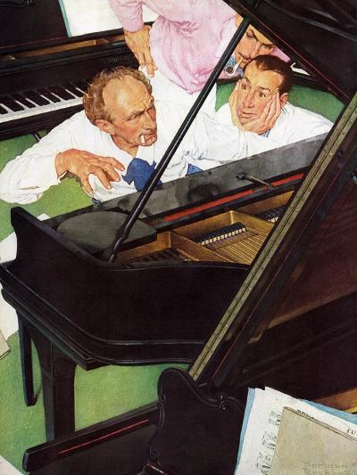 """""""Jeff Raleigh's Piano Solo"""", May 27,1939-Norman Rockwell-Giclee Print"""
