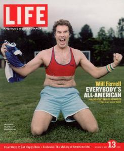 Comic Will Ferrell Outside in Freeway Park Doing a Bad Imitation of Brandi Chastain, May 13, 2005 by Jeff Riedel