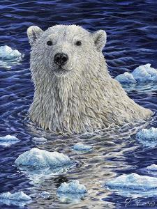Polar Bear Painting by Jeff Tift