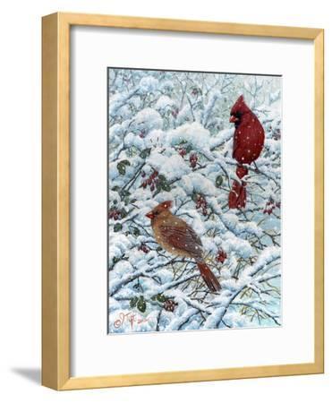 Winter Cardinal Painting
