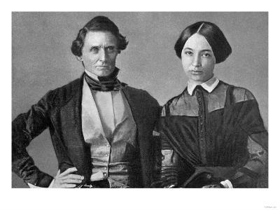 Jefferson Davis and His Wife--Art Print
