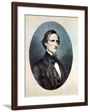 Jefferson Davis, President of the Confederate (Southern) States-Thomas Hicks-Framed Giclee Print