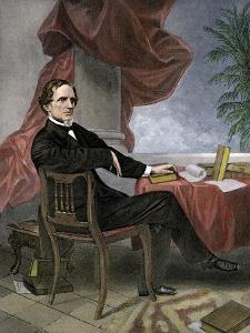 Jefferson Davis, President of the Confederate States of America, at His Desk
