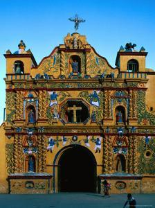 Church of San Andres Xecul,Totonicapan, Guatemala by Jeffrey Becom