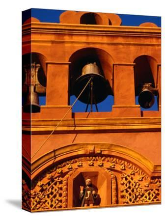 Detail of the 17th Century Bell Tower of the Chapel of the Third Order in Atlixco in Puebla, Mexico