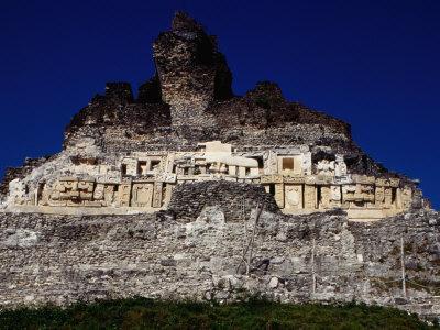 El Castillo, Ancient Classic Mayan Ruins of Xuntunich,Xuntunich,Cayo, Belize
