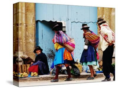 Family Walking Through Market, Lircay, Peru