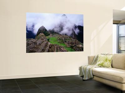 Inca Terraces with Fogbound Mountains