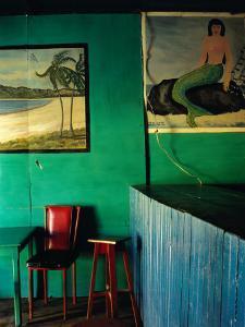 Interior of Bar with Mermaid Mural, Tela, Honduras by Jeffrey Becom