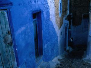 Looking Down on the Blue Alleyways of Chefchaouen, Morocco by Jeffrey Becom