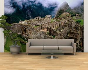 Overview of Terraced Royal Inca Ruins, Machu Picchu, Peru by Jeffrey Becom