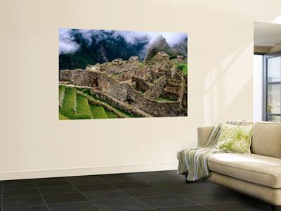 Overview of Terraced Royal Inca Ruins, Machu Picchu, Peru