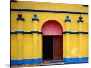 Painted Church in Santa Margarita, Quiche, Guatemala by Jeffrey Becom