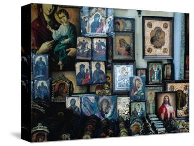 Religious Souvenirs Outside the Church of St. Spiridon, Corfu Town, Greece