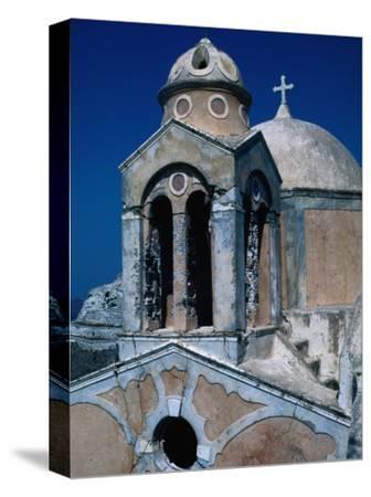 The Crumbling Chapel Overlooking the Aegean Sea, Santorini Island, Greece