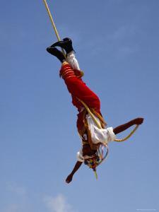 The Voladores of Papantla, Papantla, Veracruz-Llave, Mexico by Jeffrey Becom