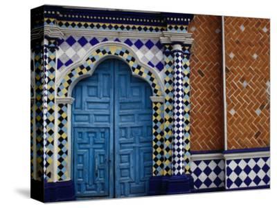 Tiled Facade of the Church of the Virgin of the Assumption in Libres, Puebla, Mexico