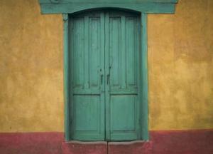 Turquoise Lintel, San Juan Ostuncalco, Guatemala by Jeffrey Becom