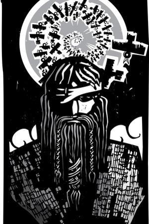 Norse God Odin with Spiral Crows by JeffreyThompson