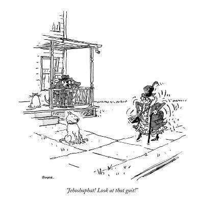 """""""Jehoshaphat! Look at that gait!"""" - New Yorker Cartoon-George Booth-Premium Giclee Print"""