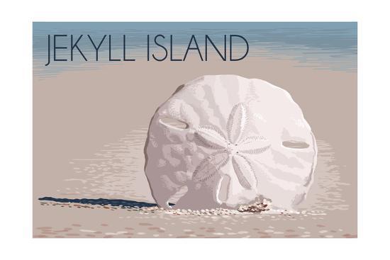 Jekyll Island, Georgia - Sand Dollar-Lantern Press-Art Print