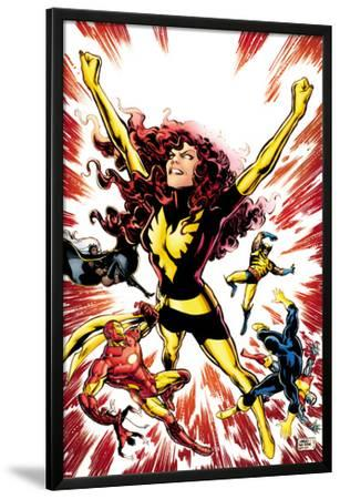 Iron Age No.3 Cover: Phoenix Fights; Iron Man, Cyclops, Wolverine, Storm, and Colossus Fall