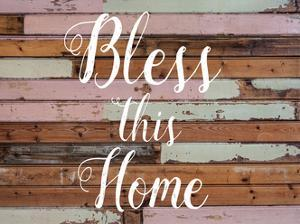 Bless This Home Barnwood by Jelena Matic