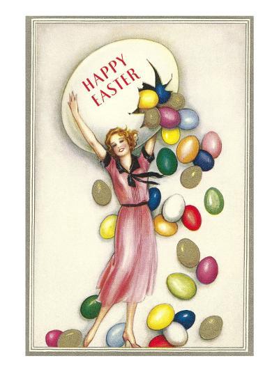 Jelly Beans Falling from Egg--Art Print