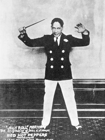 'Jelly Roll' Morton (1890-1941) (B/W Photo)-American Photographer-Giclee Print