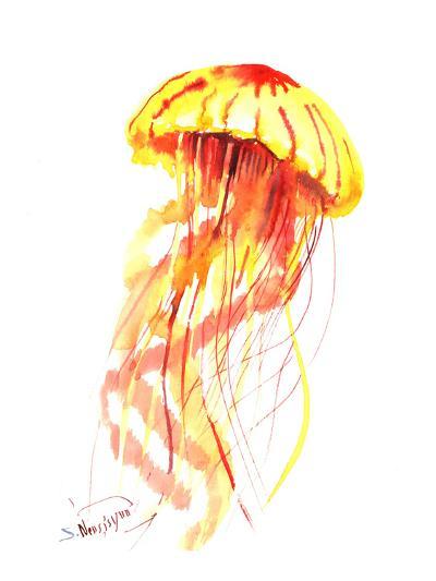 Jellyfish Fire-Suren Nersisyan-Art Print