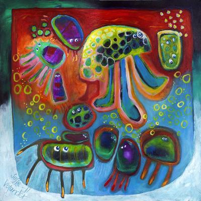 Jellyfish Party-Susse Volander-Art Print