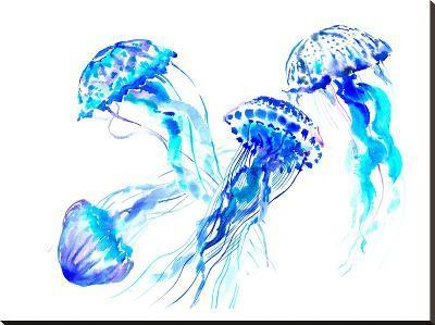 Jellyfish-Suren Nersisyan-Stretched Canvas Print