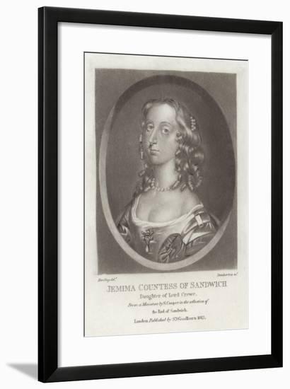 Jemima Countess of Sandwich--Framed Giclee Print