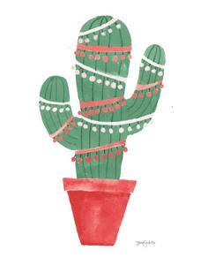 A Very Cactus Christmas II Dark Green by Jenaya Jackson