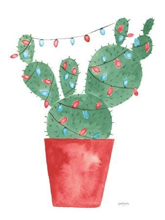 A Very Cactus Christmas III Dark Green