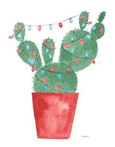 A Very Cactus Christmas III Dark Green by Jenaya Jackson