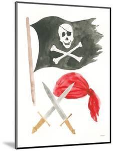 Pirates II on White by Jenaya Jackson