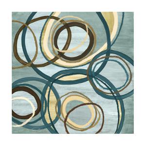 21 Blue Tuesday II Circles by Jeni Lee