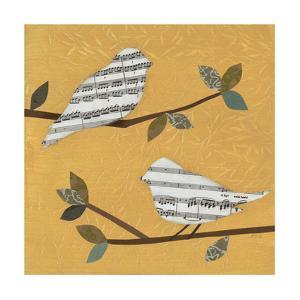 Golden Songbirds I by Jeni Lee